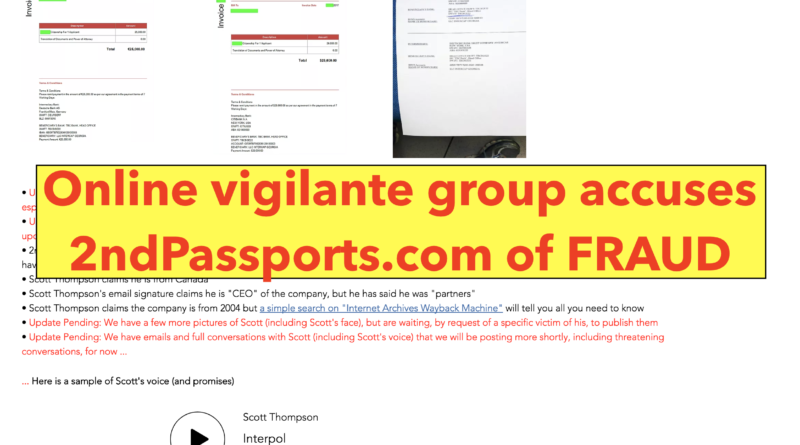 2nd passports scam