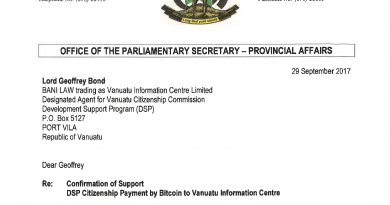 Vanuatu Citizenship Program to Accept Bitcoin Payments, Pilot Block Chain-Based Due Diligence