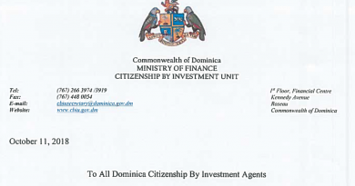"Dominica CIU Scolds Agents for ""Special Discount"" Offers on CIP; Agents Claim CIU is Guilty of Same Offense"