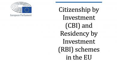 European Parliament Publishes Report on RCBI-Programs