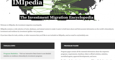 Welcome to IMIpedia, The Investment Migration Encyclopedia