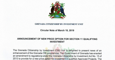 Breaking: Grenada CIP Cuts Minimum Investment Requirement on Real Estate to US$220,000