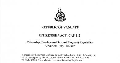 "Harris: Vanuatu Government Addresses the ""Multiple Citizenship Program"" Paradox"