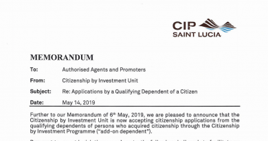 """Saint Lucia CIU Publishes Prices For """"Add-On"""" Dependents"""