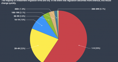 Most Investment Migration Firms Have Fewer Than 10 Employees
