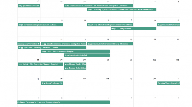 Choose Between The Year's 32 Upcoming Investment Migration Events in