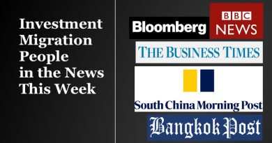 Investment Migration People in The News This Week – Oct 7-14, 2019